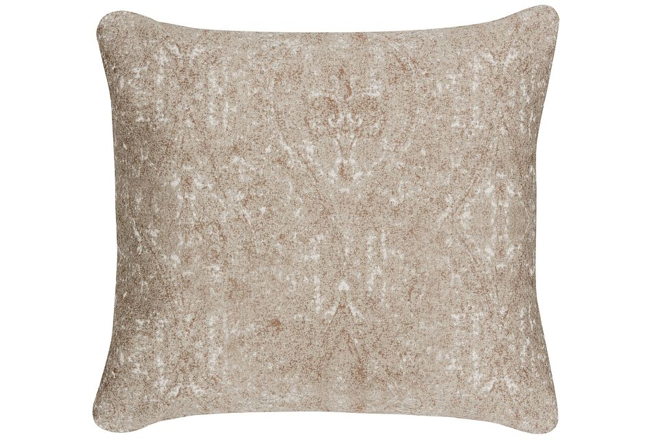 Ogee Pewter Fabric Square Accent Pillow