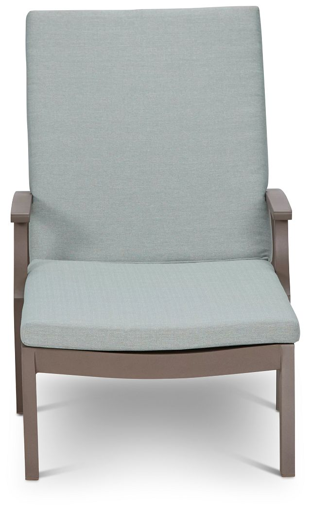 Raleigh Teal Aluminum Cushioned Chaise (1)