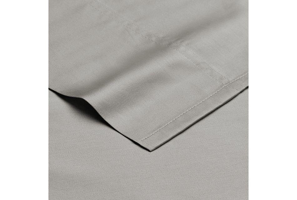 Egyptian Cotton Gray 400 Thread Sheet Set, Queen (2)