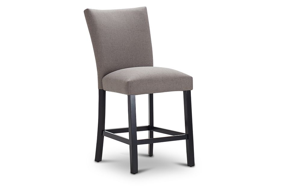 "Auburn Dark Gray Fabric 24"" Upholstered Barstool,  (1)"