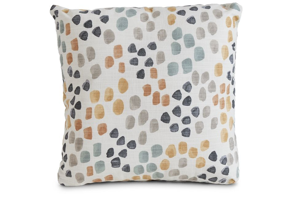 "Pfeiffer Yellow Fabric 18"" Accent Pillow,  (1)"