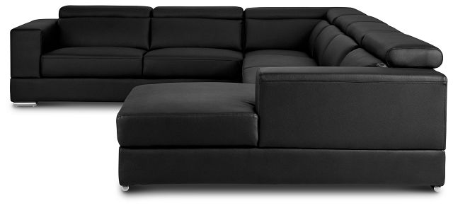 Maxwell Black Micro Large Right Chaise Sectional (3)