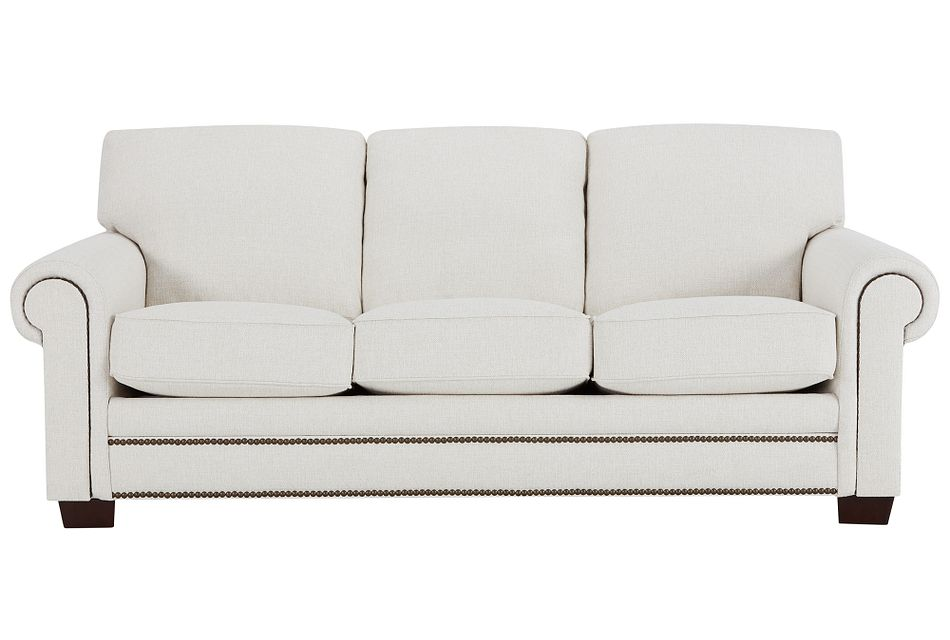 Foster White Fabric Sofa