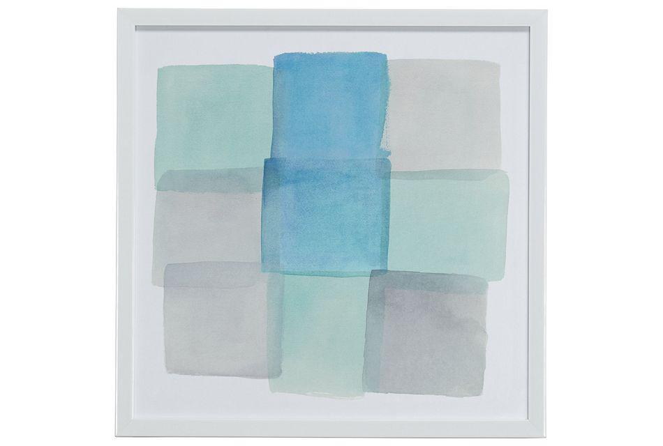 Slate Blue Framed Wall Art