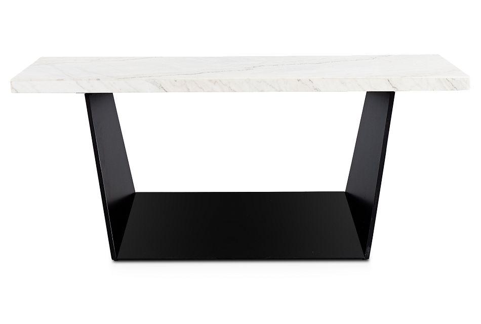 Auburn White Marble Rectangular Table, %%bed_Size%% (1)