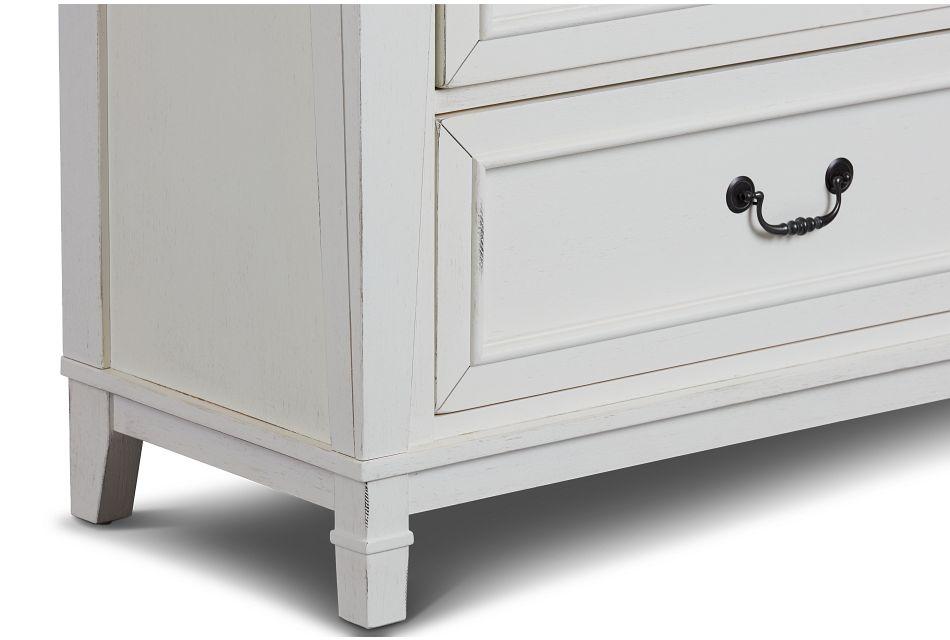 Stoney White Drawer Chest