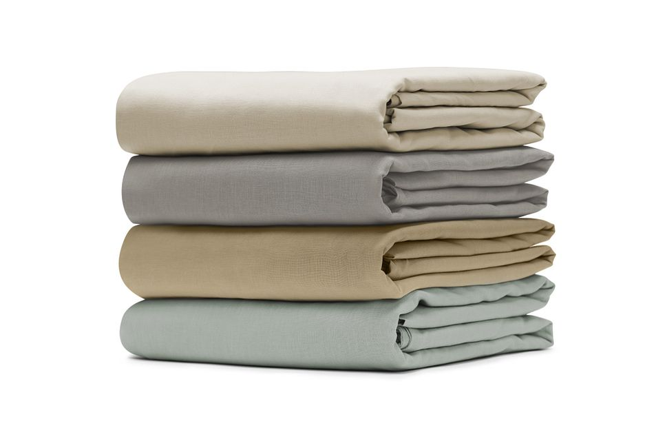 Linen Blend Ivory  Sheet Set