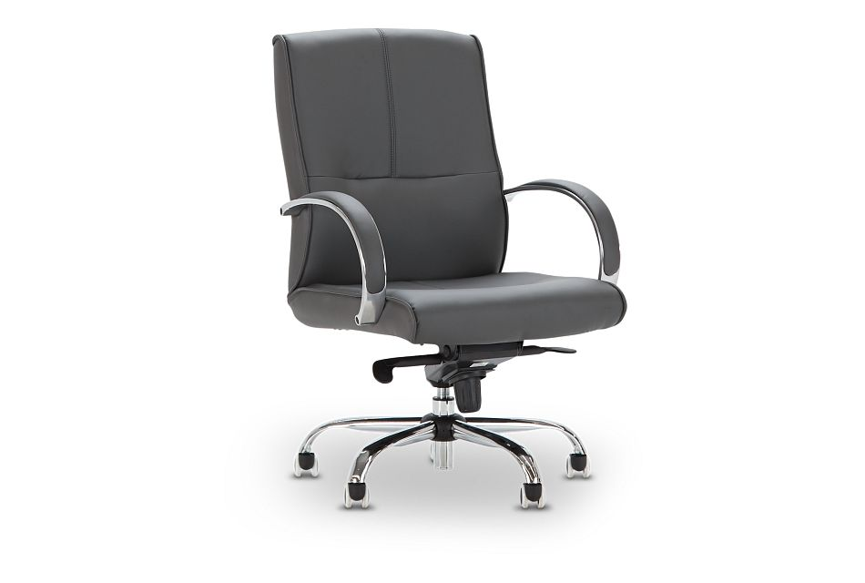 Greeley Gray Uph Desk Chair, %%bed_Size%% (1)