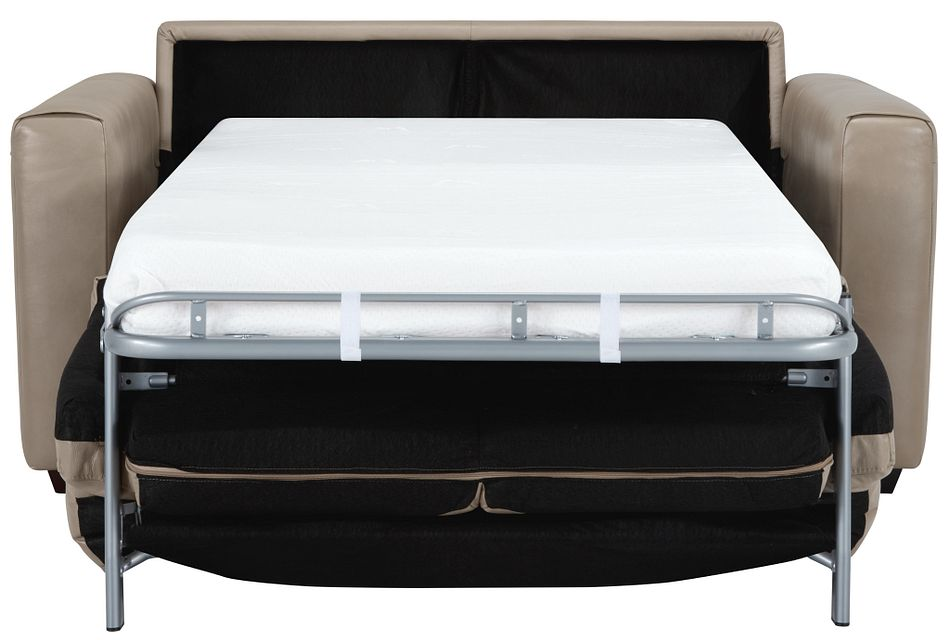 Lane Taupe Lthr/vinyl Memory Foam Sleeper