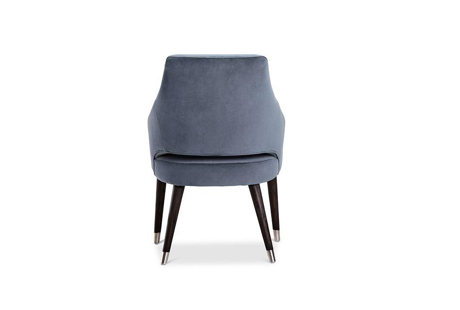 Naveen Light Gray Velvet Upholstered Arm Chair