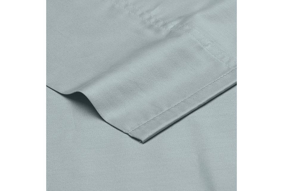 Organic Cotton Light Blue 300 Thread Sheet Set