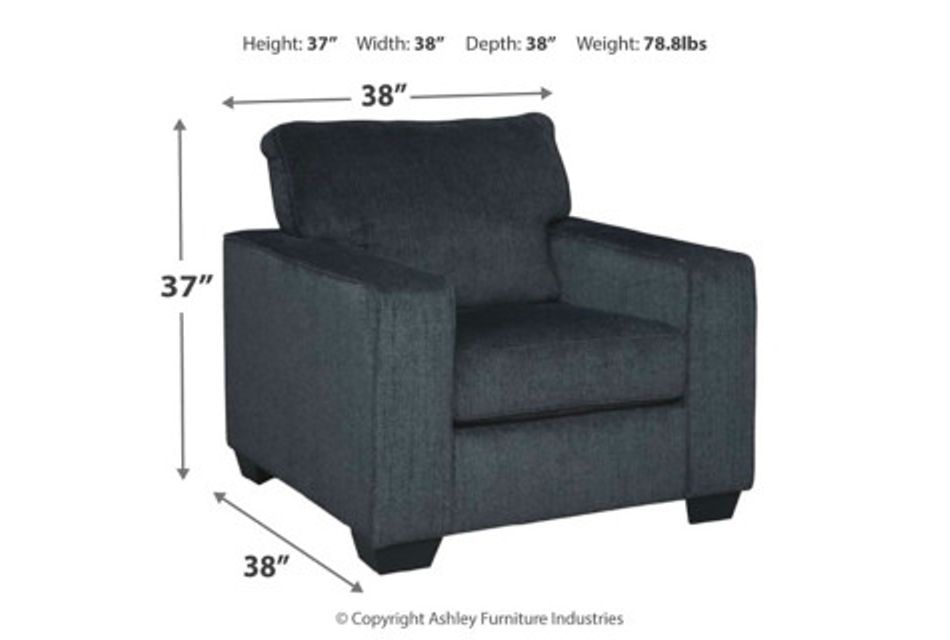 Altari Dark Gray Micro Chair