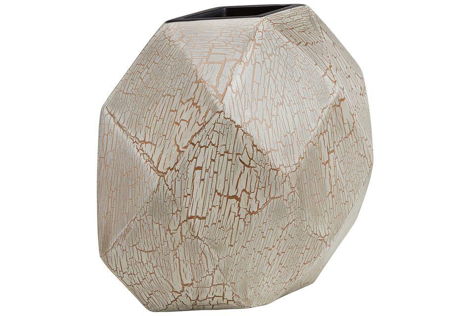 Bella White Round Vase