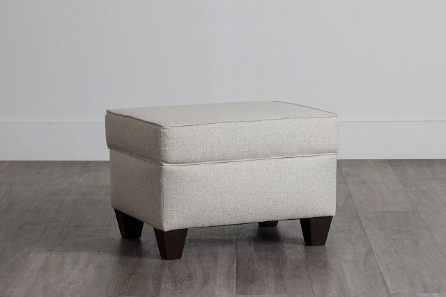 Cameron Beige Fabric Ottoman (0)