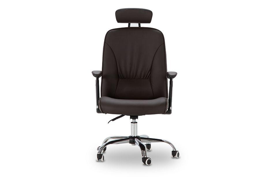 Aurora Brown Uph Desk Chair, %%bed_Size%% (3)