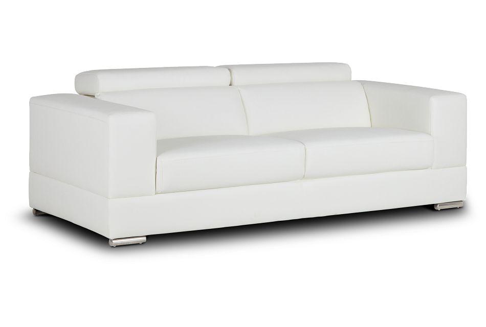Maxwell White Micro Sofa