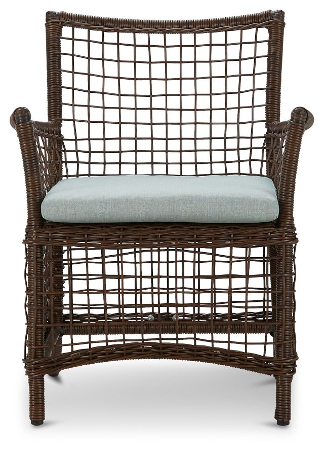 Southport Teal Woven Arm Chair (1)