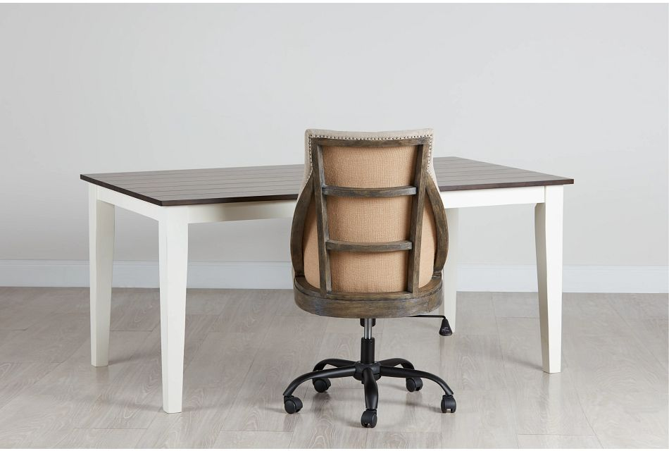 Sumter White Desk And Chair,  (0)