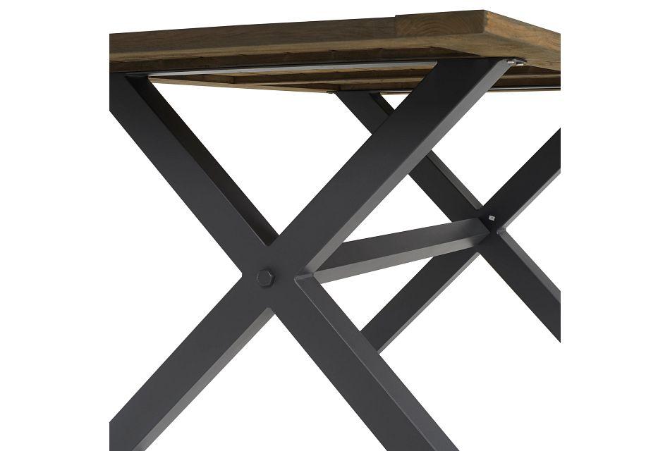 "Canyon Dark Tone 72"" Rectangular Table, 3 Chairs & Bench"