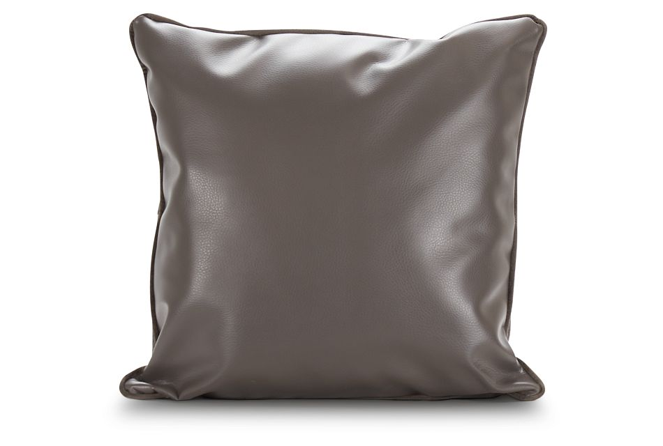 Robin Dark Gray Bonded Ltr Accent Pillow