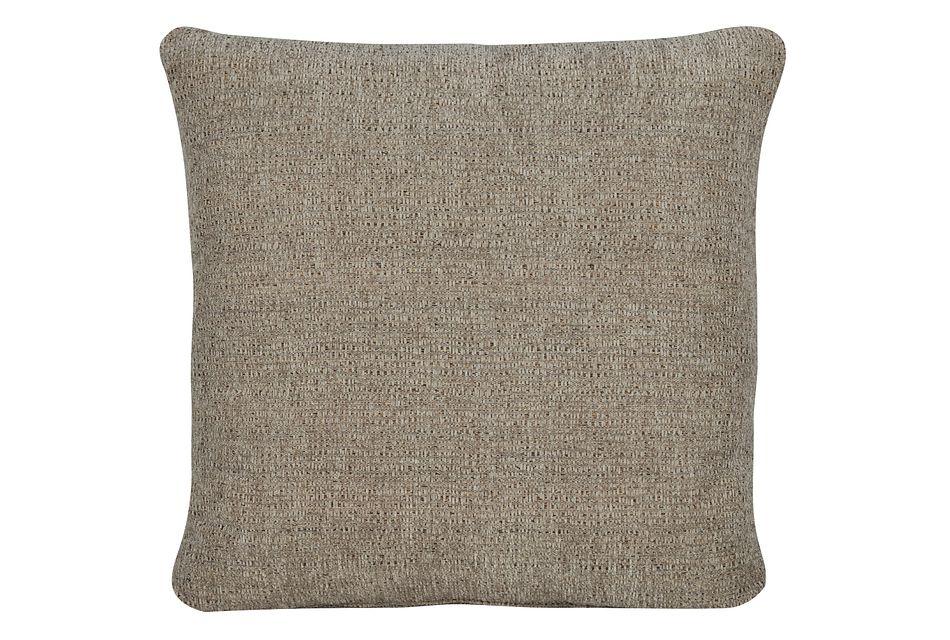 Belair Dark Taupe Fabric Square Accent Pillow
