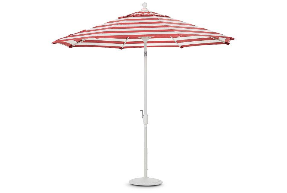 Capri Red Stripe Umbrella Set