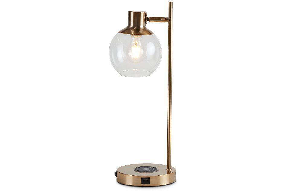 Lila Gold Metal Desk Lamp,  (2)