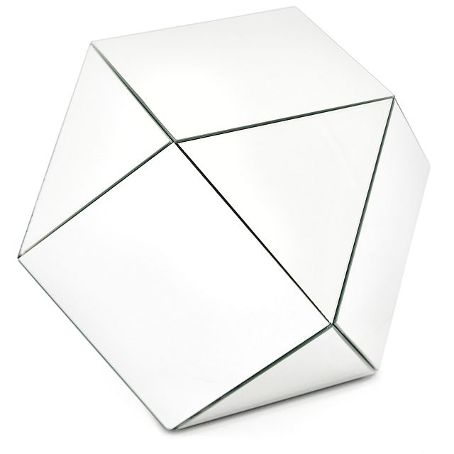 Geo Silver Small Accent Table (1)