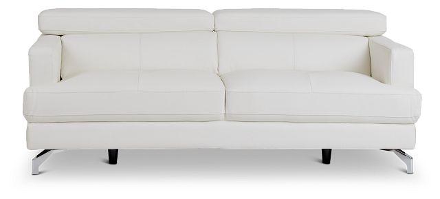 Marquez White Micro Sofa (1)