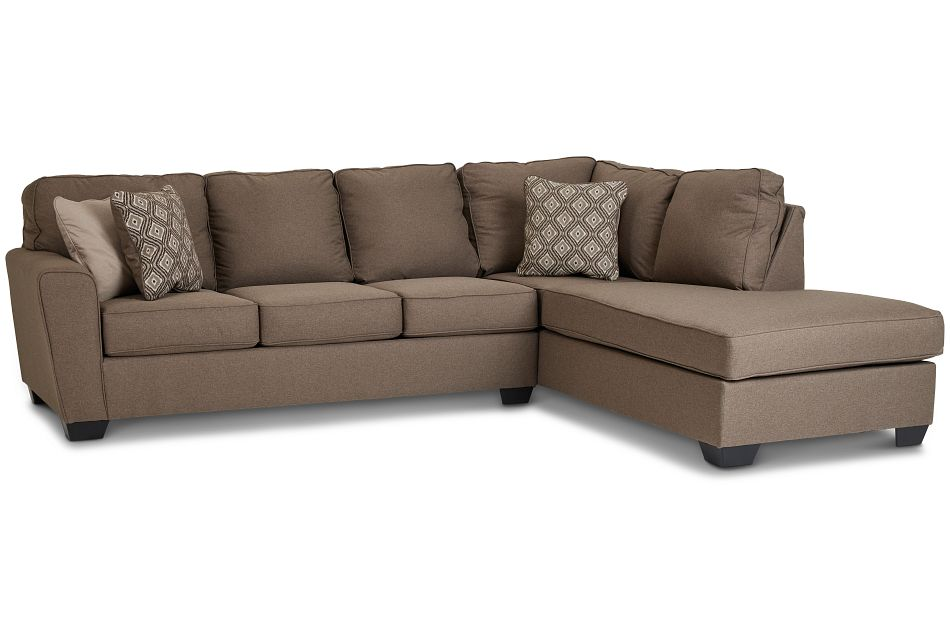 Calicho Dark Taupe Micro Right Chaise Sectional,  (1)