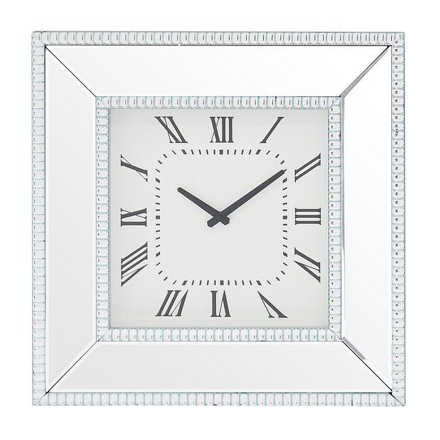 Edie Silver Mirrored Wall Clock (0)