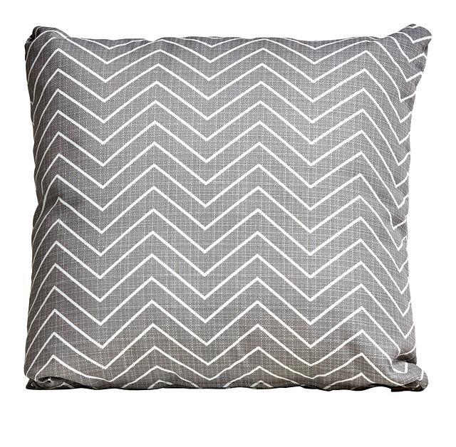 """Chevron Gray 18"""" Indoor/outdoor Accent Pillow (0)"""