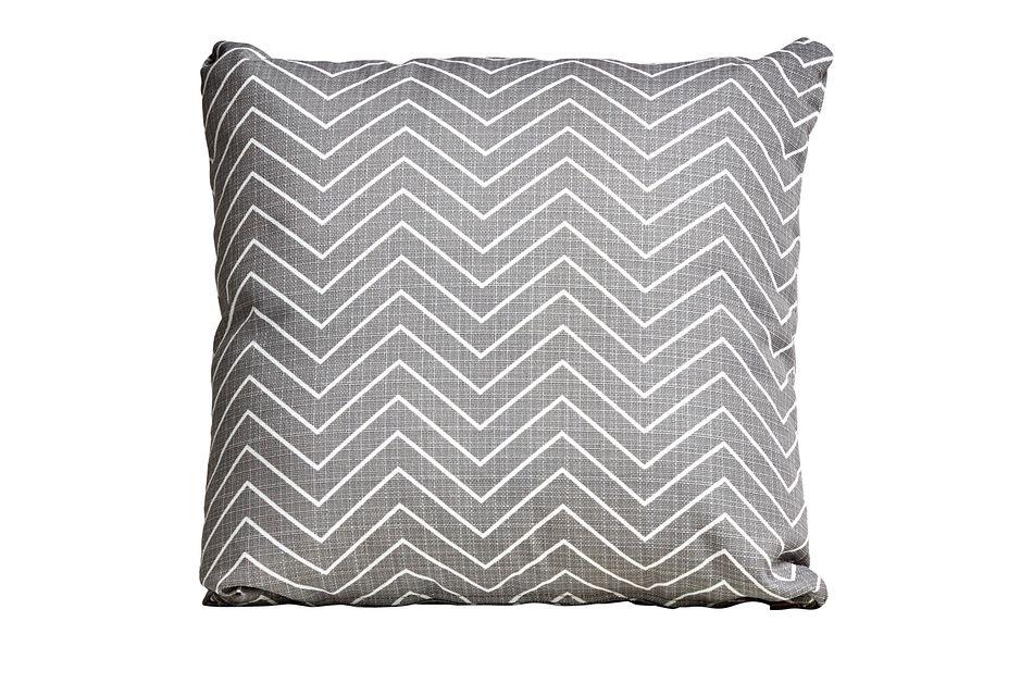 """Chevron Gray 18"""" Indoor/outdoor Accent Pillow"""