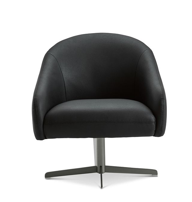 Frankie Black Swivel Accent Chair (3)