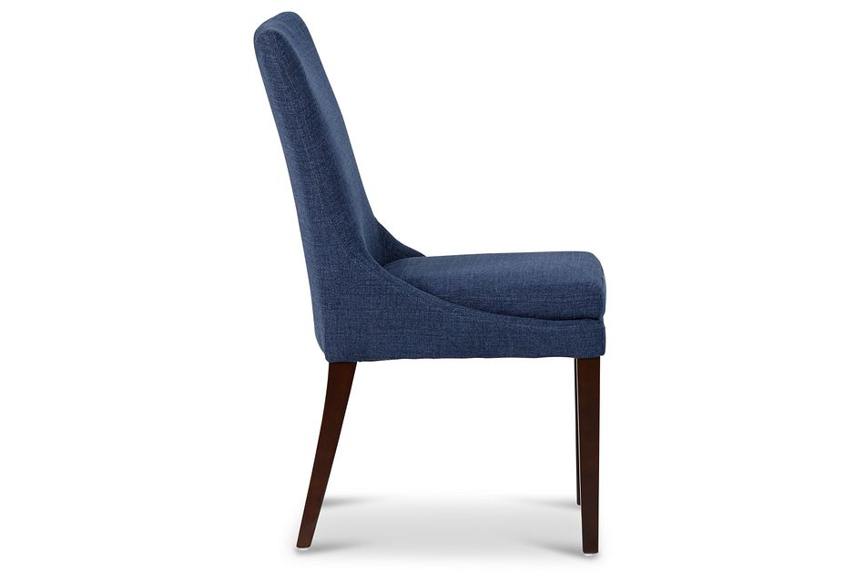 Gage Dark Blue Upholstered Side Chair