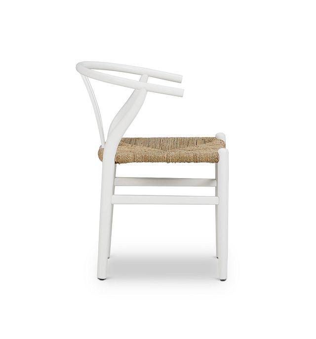 Moya White Wood Side Chair (2)