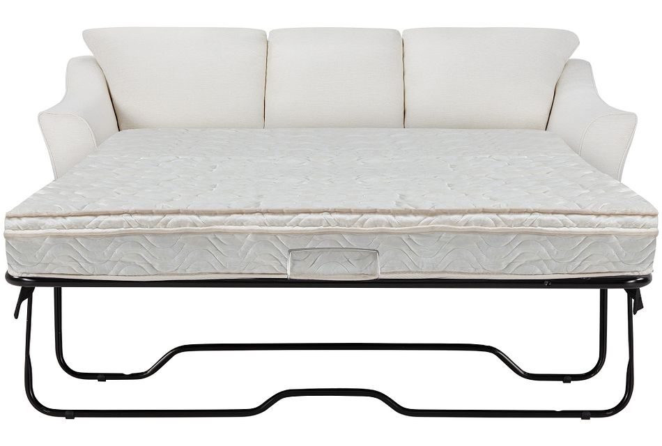 Avery White Fabric Innerspring Sleeper