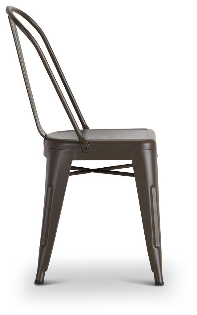Harlow Dark Tone Metal Side Chair (2)