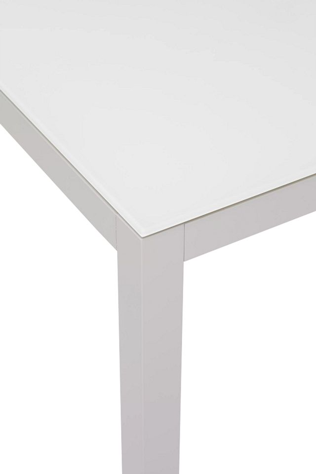 """Lisbon White 36"""" Square Table & 4 Chairs (1)"""