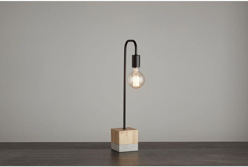 Leo Wood Table Lamp