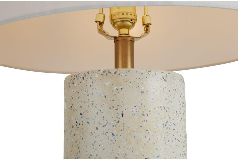 Annie White Terrazzo Table Lamp