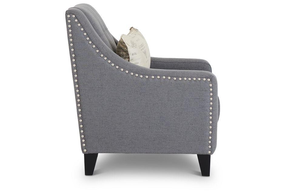 Hutton Dark Gray Fabric Chair,  (2)