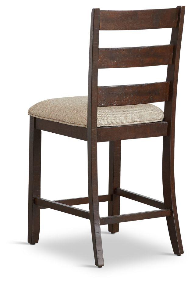 "Jax Dark Tone 24"" Wood Barstool"