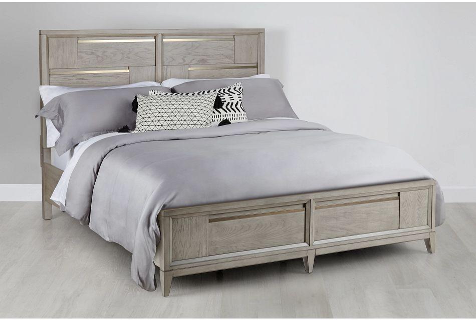 Sedona Gray Panel Storage Bed