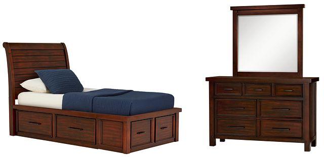 Napa Dark Tone 4-drawer Sleigh Storage Bedroom (1)