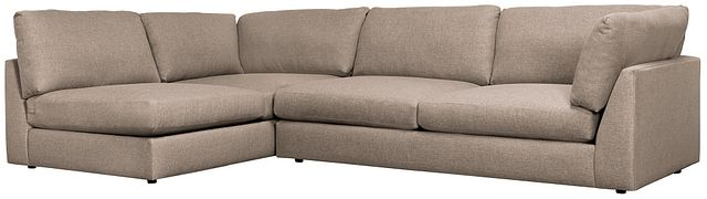 Harper Dark Taupe Fabric Small Right Arm Sectional (0)