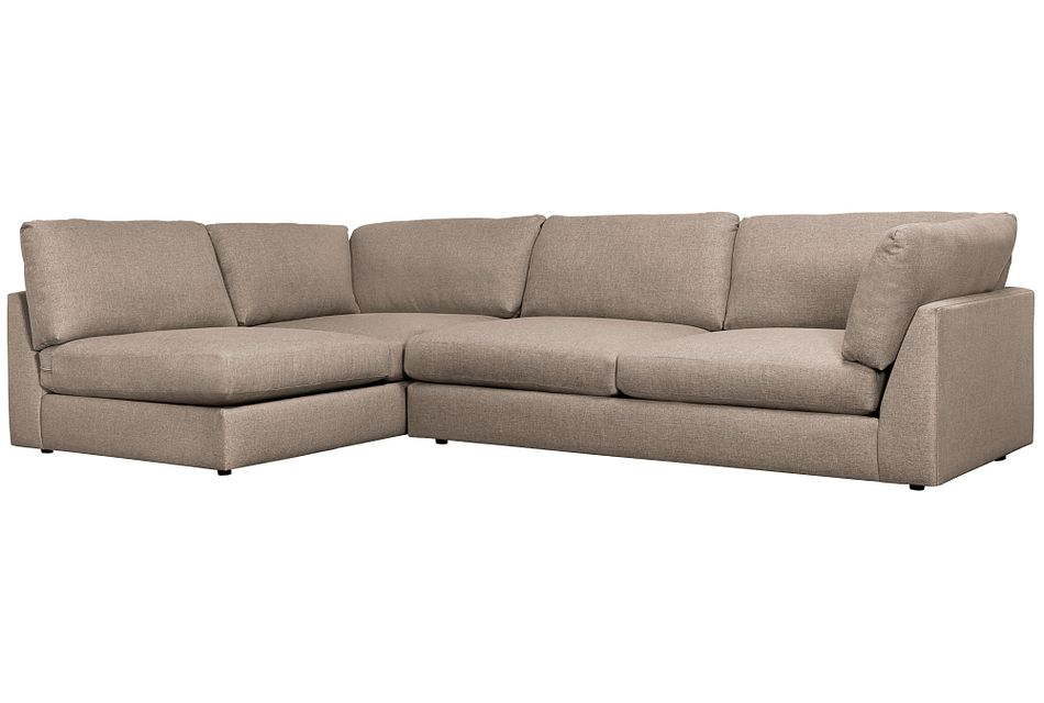 Harper Dark Taupe Fabric Small Right Arm Sectional