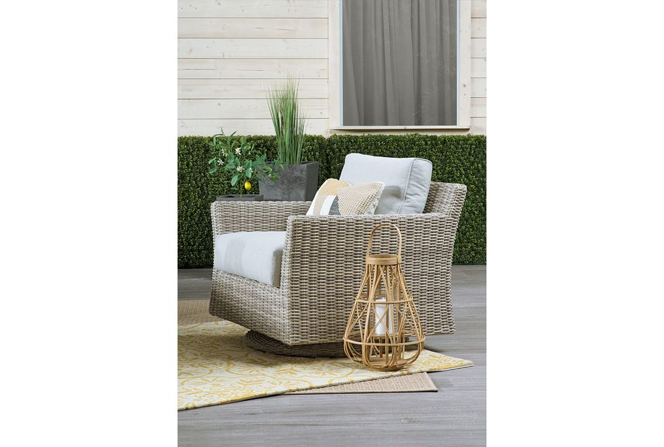 Raleigh Gray Swivel Chair,  (0)
