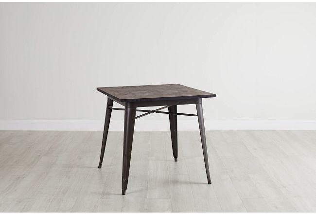 Harlow Dark Tone Square Table