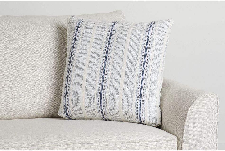 "Lang Blue Fabric 20"" Accent Pillow,  (0)"